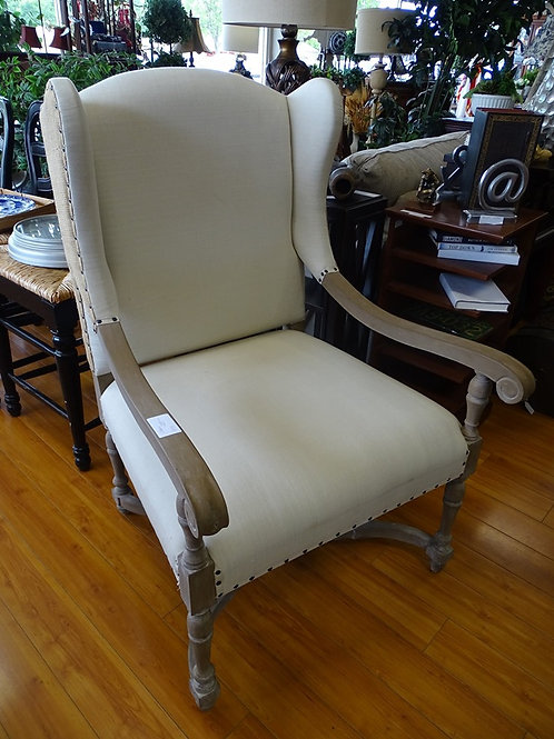 Upholstered & Wood Chair