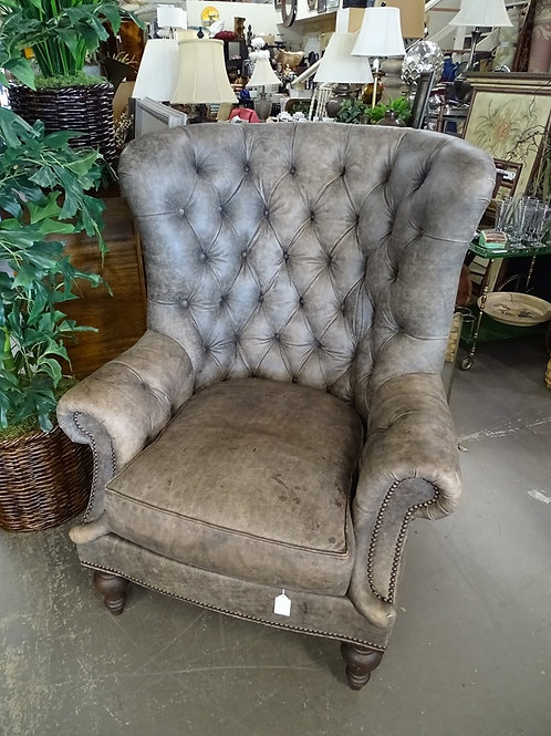 Genuine Leather Pub Chair