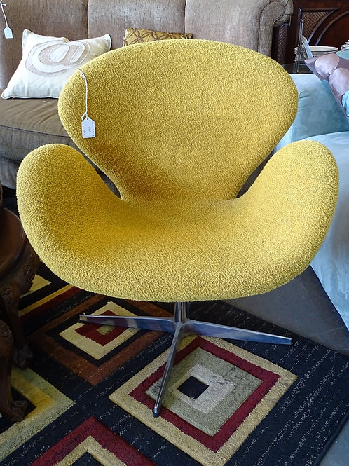 Reproduction Yellow 70's Swivel Chair