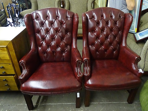 Pair of Lawyer Leather Chairs