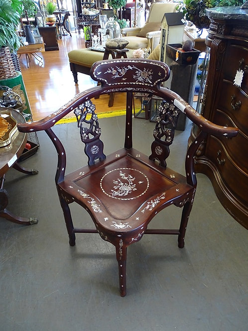 Chinese Rosewood Pearl Inlay Chair