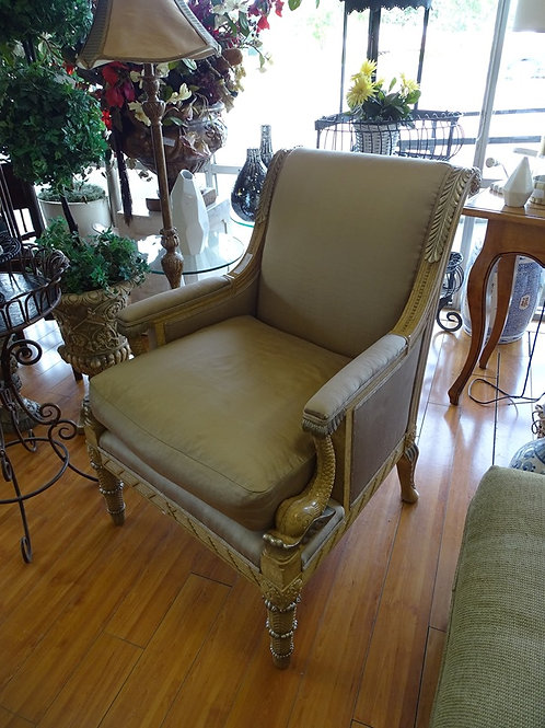 Satin Fabric Upholstered Chair