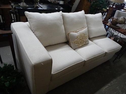 One Arm White Loveseat Sofa
