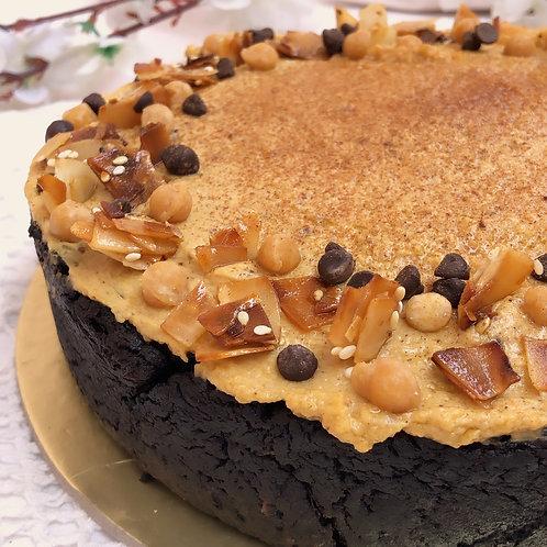 Vegan Chocolate Cake with Pumkin Pie frosting