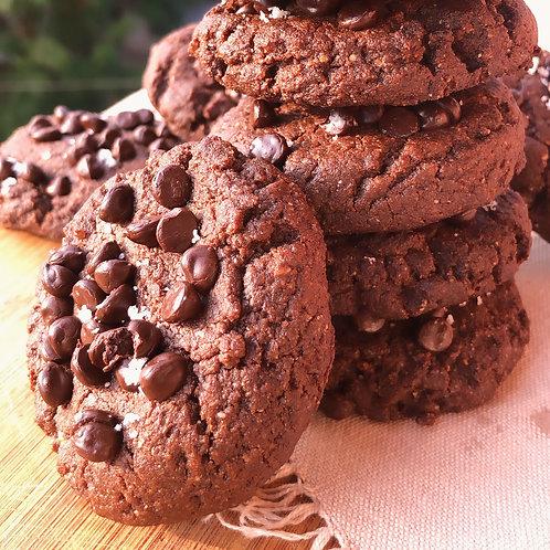 Keto & Vegan Double Choco-Chip Cookies (12)