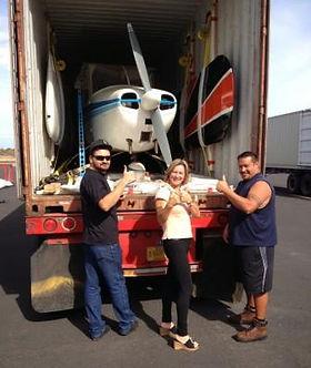 Cessna 172A, SKYBOLT, Containerization, Погрузка самолета в контейнер