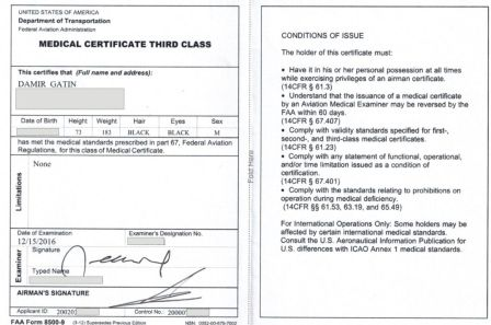 FAA Medical Certificate