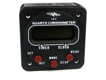 Часы авиационные электронные / ASTROTECH LC-2 CLOCK 2-14 PANEL MOUNT 12V - 28V