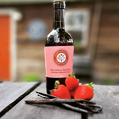 Strawberry mead, honey-wine, elgin meadery