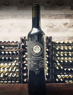 Bottle of Black Lupulus mead from Elgin Meadery