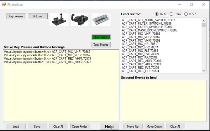 Joystick button and keyboard key utility