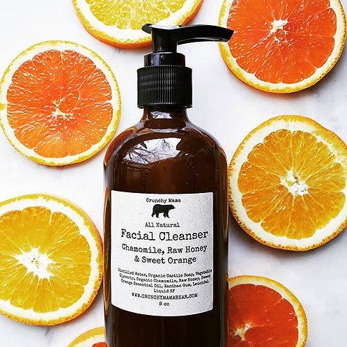 Chamomile, Raw Honey & Sweet Orange Facial Cleanser