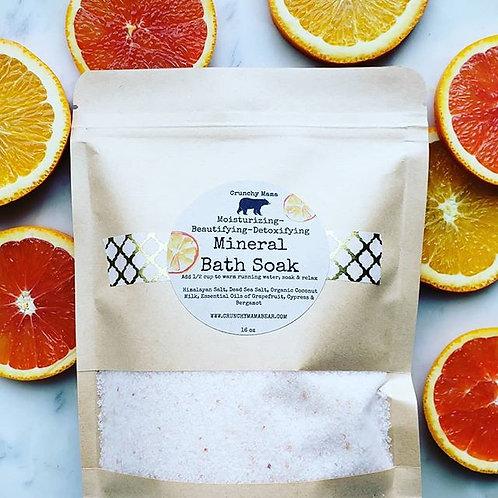 Mineral Bath Soak-Bergamot, Grapefruit and Cypress