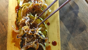 Spicy Chayote Squash with Sesame & Caramelized Onions