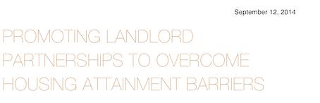 Promoting Landlord Partnerships