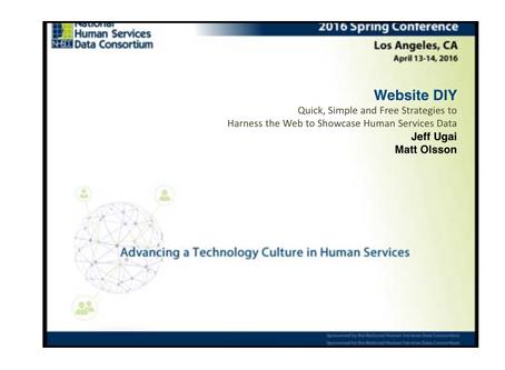 Website DIY: Strategies to Showcase Human Services Data