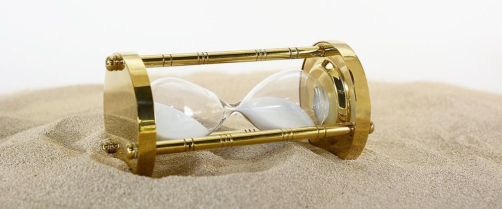 Reloj que mide el paso del tiempo