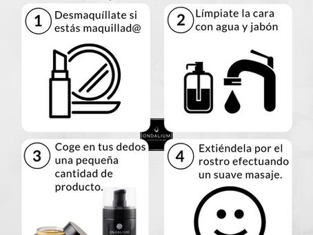 Rutina Ondalium en 4 pasos: ¿cómo echarte nuestra crema y/o sérum?
