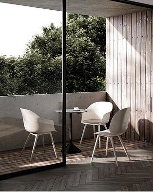 Gubi Bat Dining Chair Outdoor
