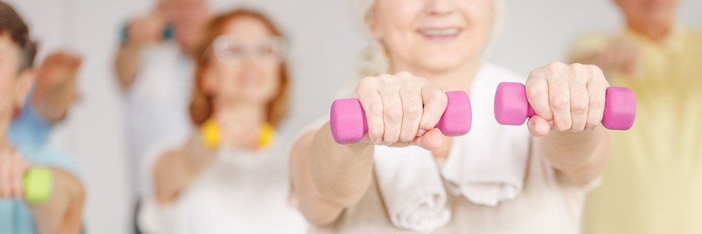 Senior woman training which may help those with high genetic risk for Alzheimer's