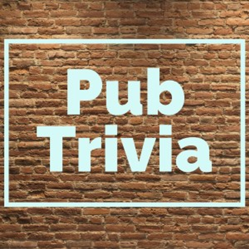 Pub Trivia against a brick background