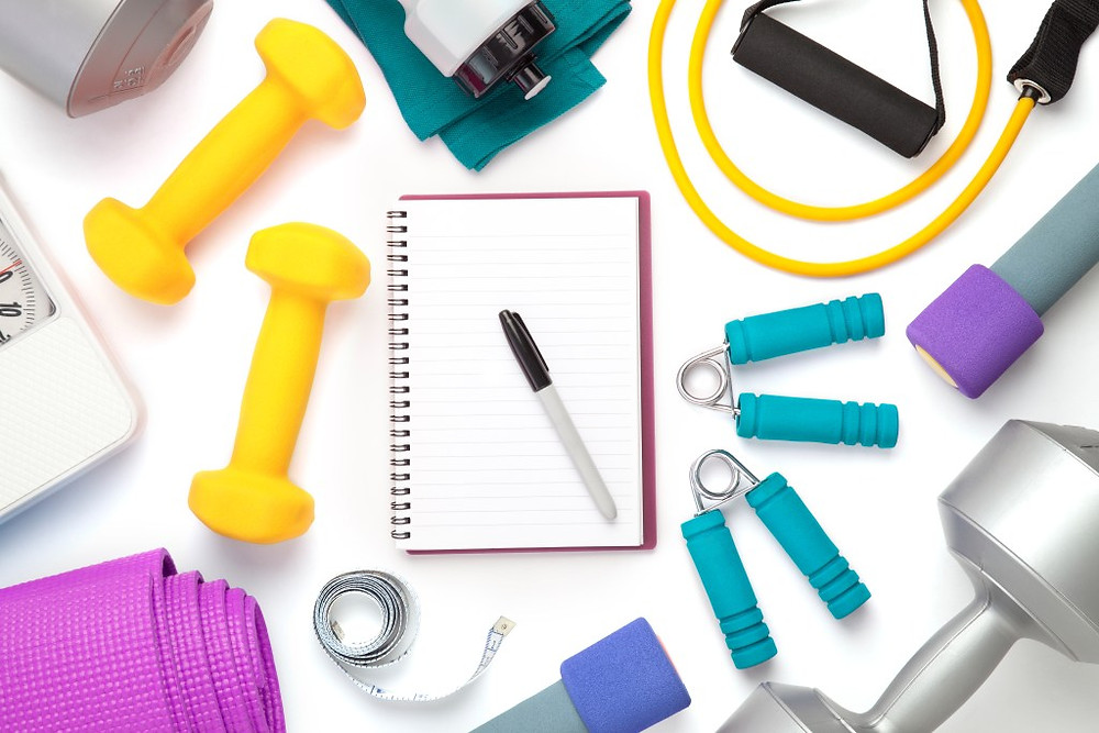 Exercise equipment with notebook