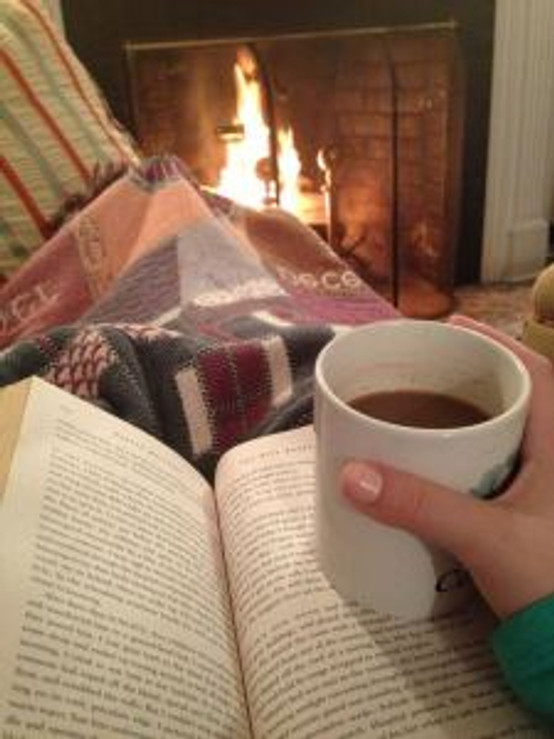 Book fire hot drink