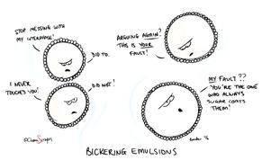 Bickering Emulsions