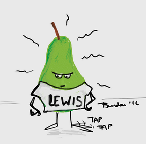A frustrated Lewis pear