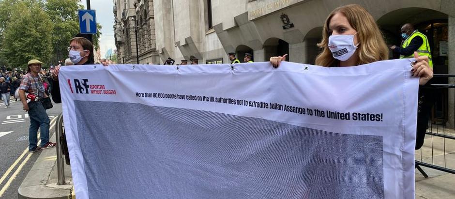 Toimittajat ilman rajoja vastustaa Julian Assangen luovuttamista