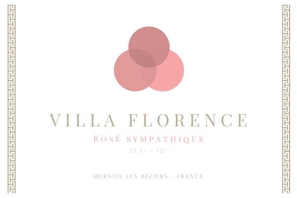 étiquette Villa Florence rosé