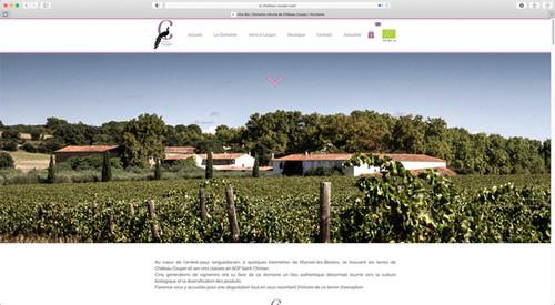 Château Coujan. Site Web