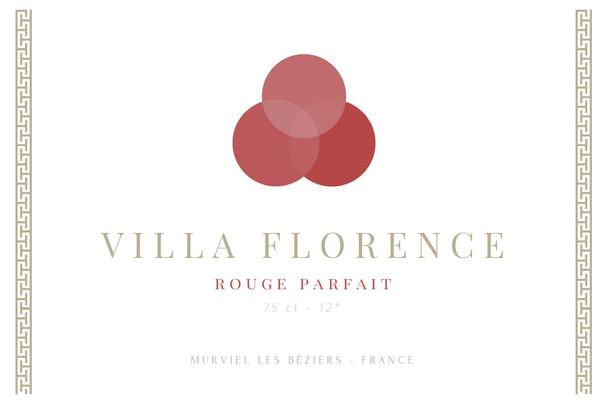 étiquette Villa Florence rouge
