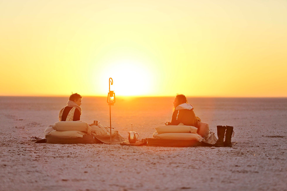 11Meno a Kwena - Salt Pan Sleep Out Sunr