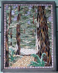 Wall Art Redwood forest framed.JPG