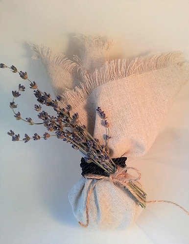 Dried lavender wedding favor, Greek bombonieres