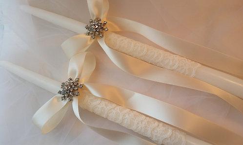 Vintage look Wedding candles