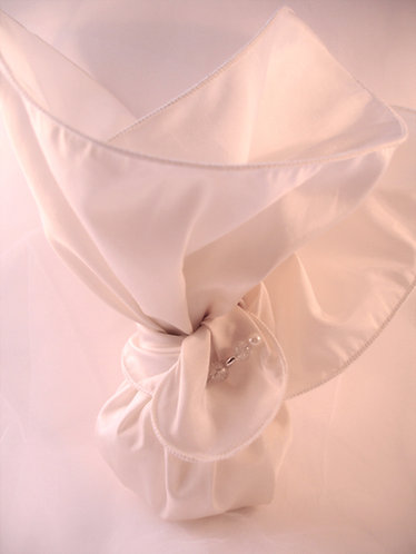 Tafetta wrap favors, wedding bombonieres