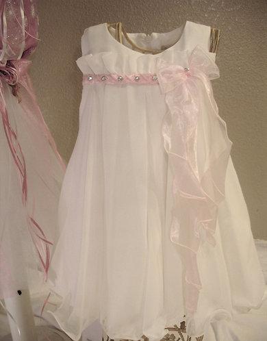 Gorgeous White Muslin baptism dress