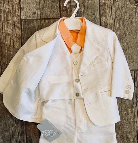 Classy Linen Baptism suit