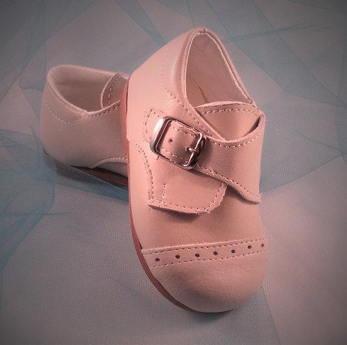 Imported Luxury Beige buckle shoe