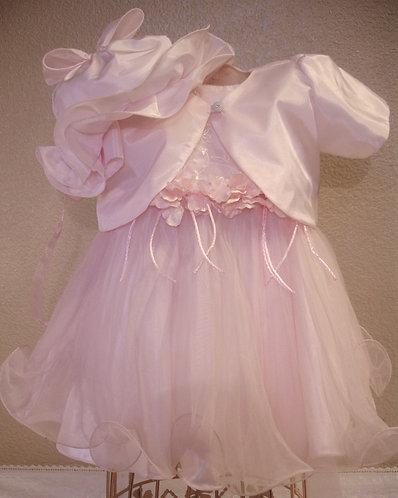 Pink Organza Baptism dress