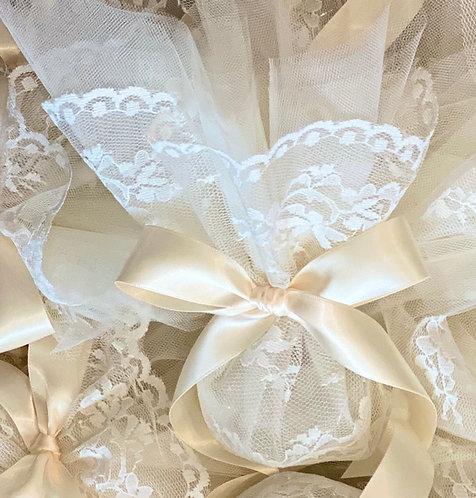 Lace wedding favor