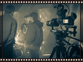 On the Set of Bone Cave with Sean Eaton and Matthew Brooks