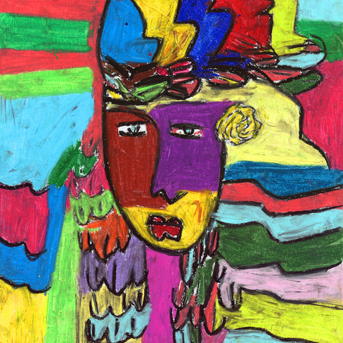 """""""The Chief"""" Pastel Framed"""