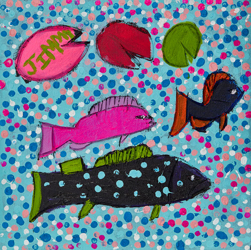"""Fish with Bubbles"" SOLD Available in Print"
