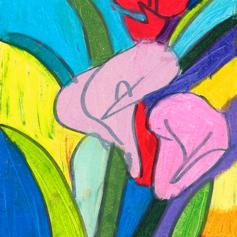 Three Calla Lilies Pastel - SOLD Available in Print