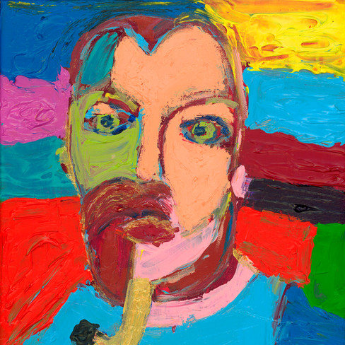"""""""Man with Pipe"""" - SOLD Available in Print"""