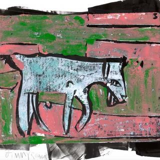 Goat Yoga 3/3 Mono Print - Available