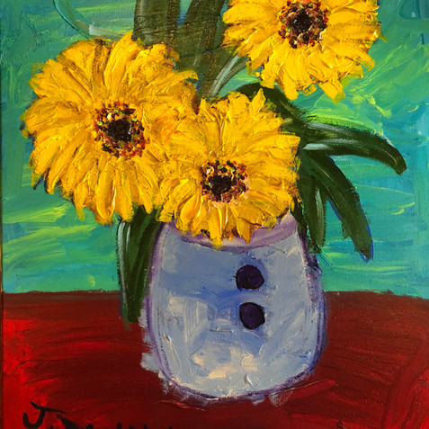 """""""Sunflowers on the Table"""" SOLD"""